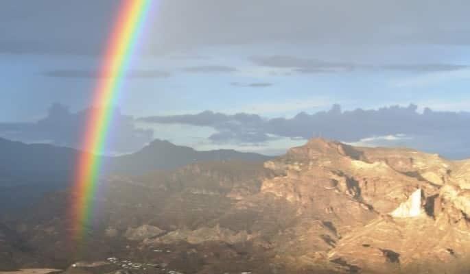 Rainbow west of Grants New Mexico S