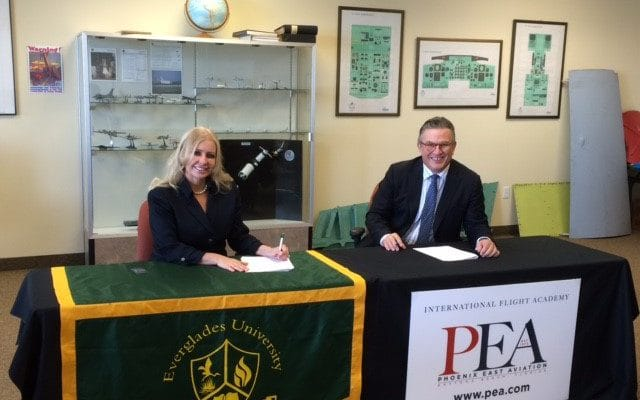 Everglades University Forms Partnership with Phoenix East Aviation