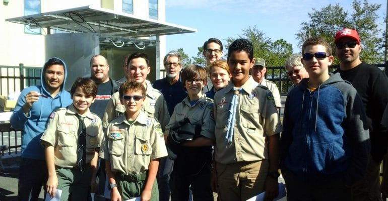 EU Sarasota students teach Boy Scouts about Solar Energy in the EU Lab