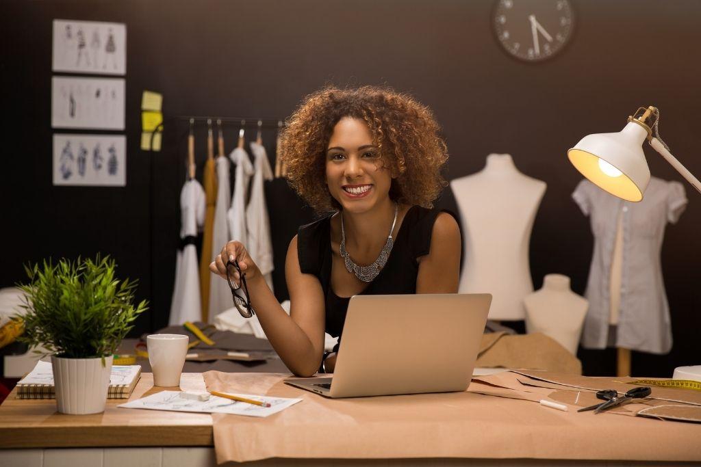 Young entrepreneur woman fashion designer